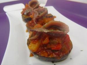 berenjena con anchoa