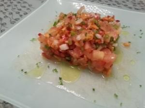 gazpacho en ensalada