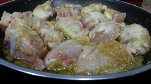 sartén pollo