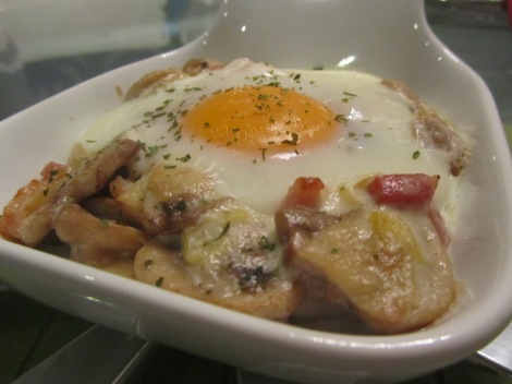 champiñones con huevo