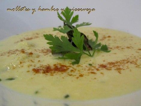 crema maíz, berberechos, almejas y trigueros