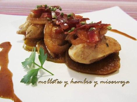 pollo con manzana y cebolla