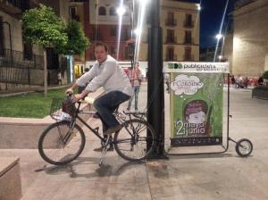 publicidad en bicicleta
