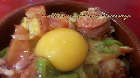 huevos antes horno