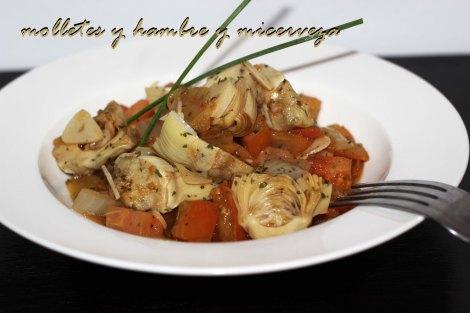 Alcachofas en tomate 3
