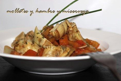 Alcachofas con tomate 2
