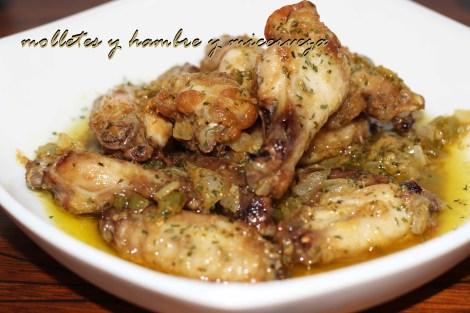 Pollo salsa de ajo 1