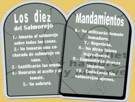 Diez mandamientos del salmorejo